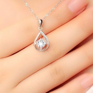 Fashion Jewelry Natural Zircon 925Silver Necklace